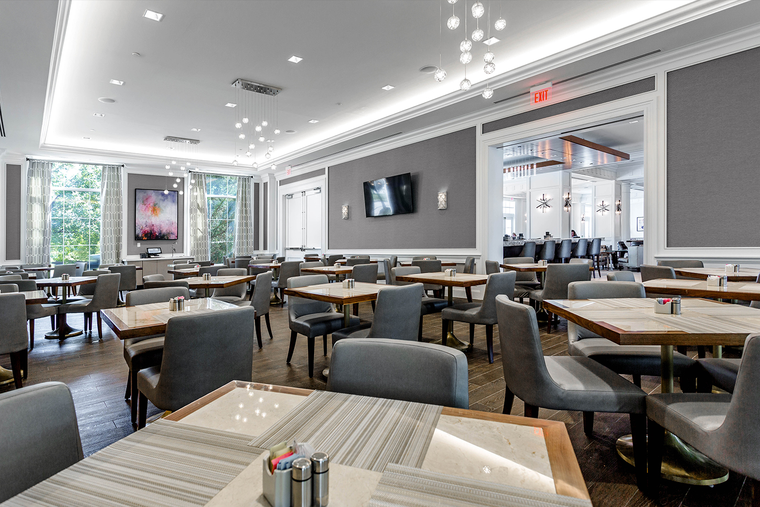 Olshan Properties completed the $27.3 million transformative interior redesign and amenity enhancement of the Hilton Columbus at Easton.