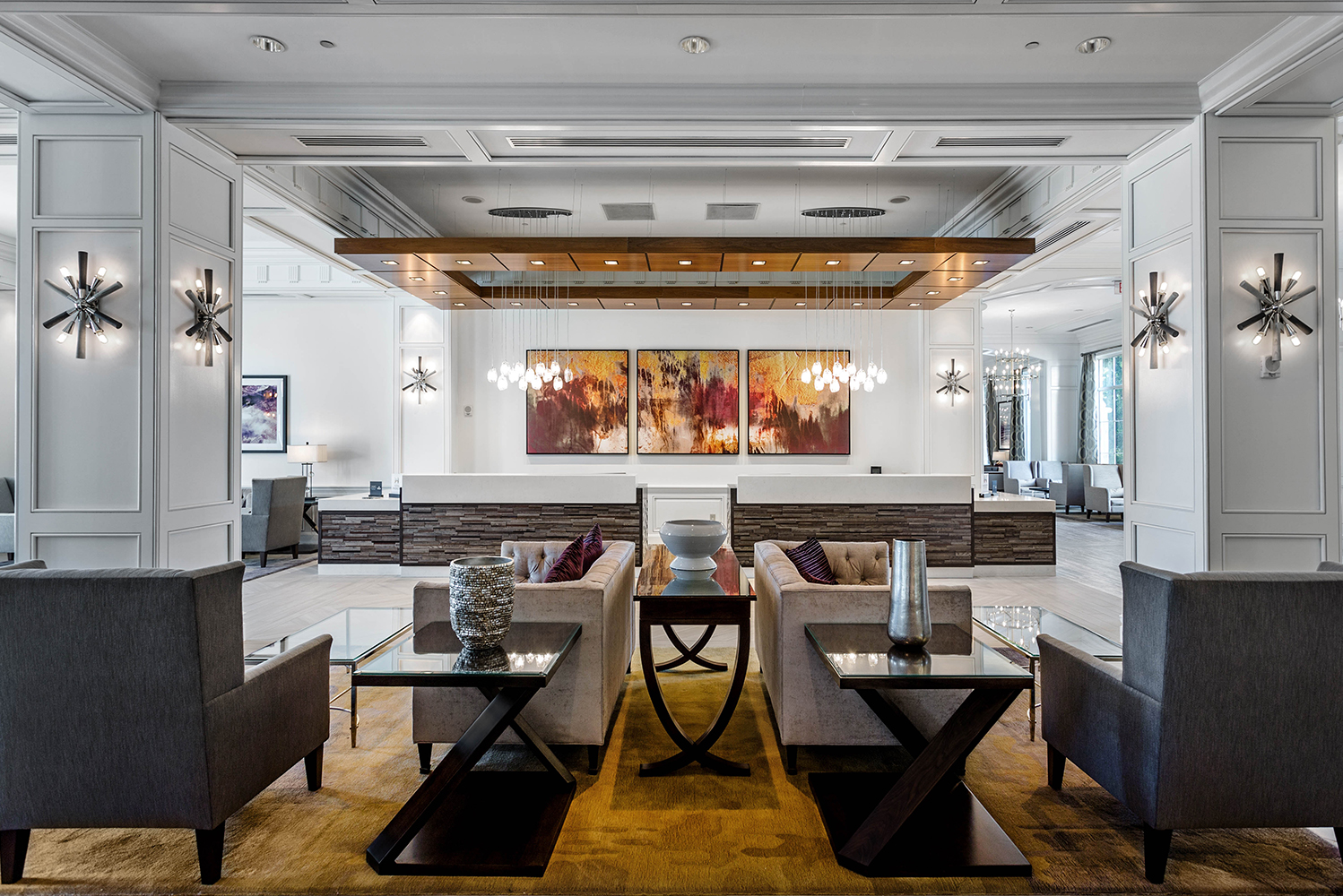 For this phase of the renovation, Olshan Properties focused on an overhaul of the hotel's public areas.