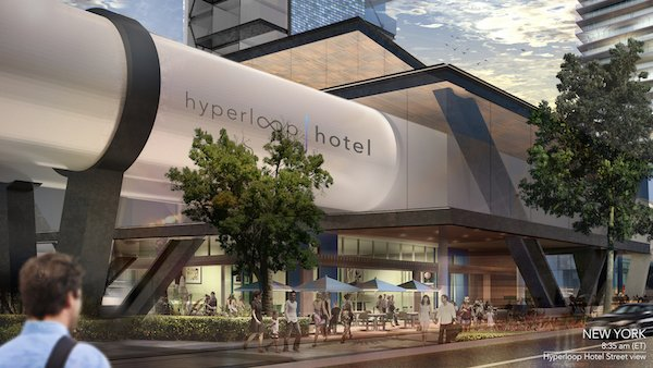 The Hyperloop Hotel would combine accommodation with transportation.