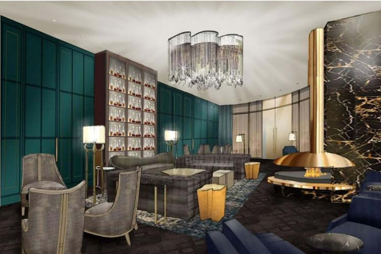 JW Marriott Nashville's interiors will have a modern aesthetic with a warm color scheme and subtle nods to Music City.