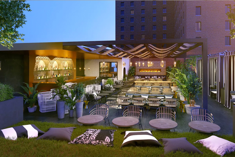 The poolside cafe is slated to open in early 2018