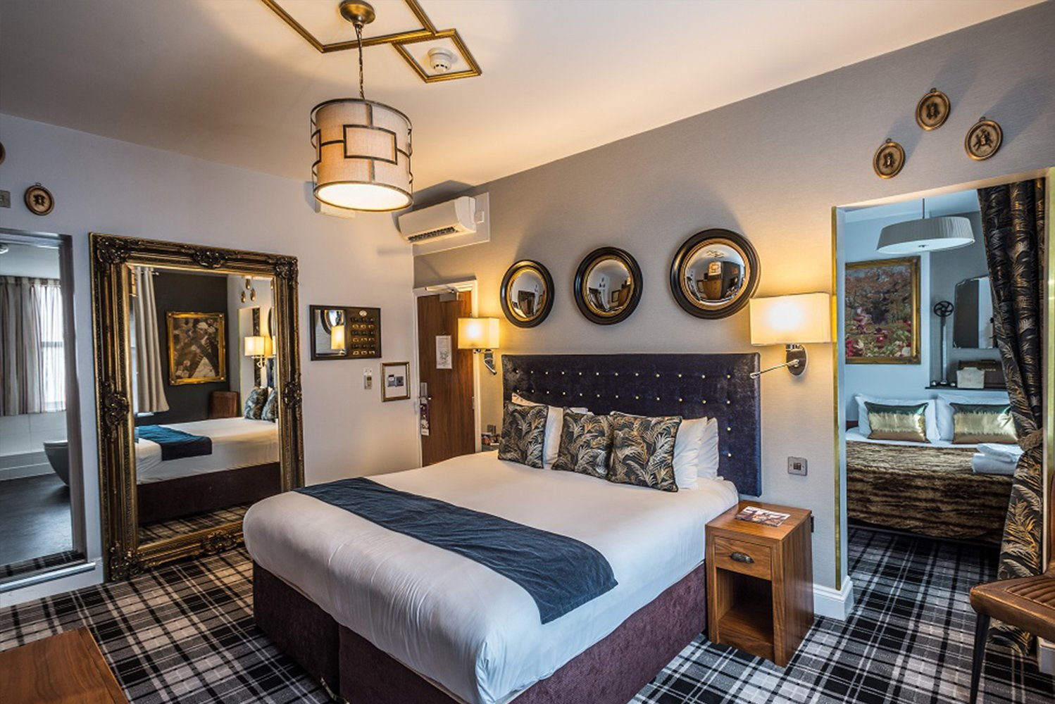 The design of the new rooms pays homage to traditional English style.