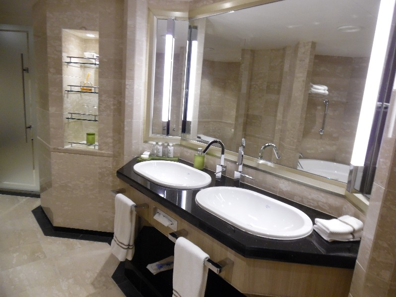 Double sinks in the bathroom area of the Owners Suite