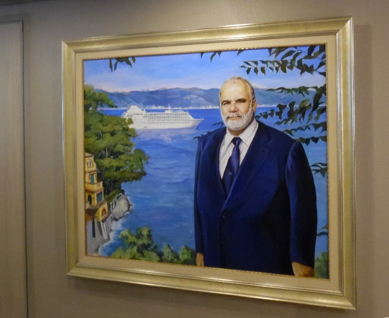 Portrait of Manfredi Lefebvre inside Entry to Owner's Suite