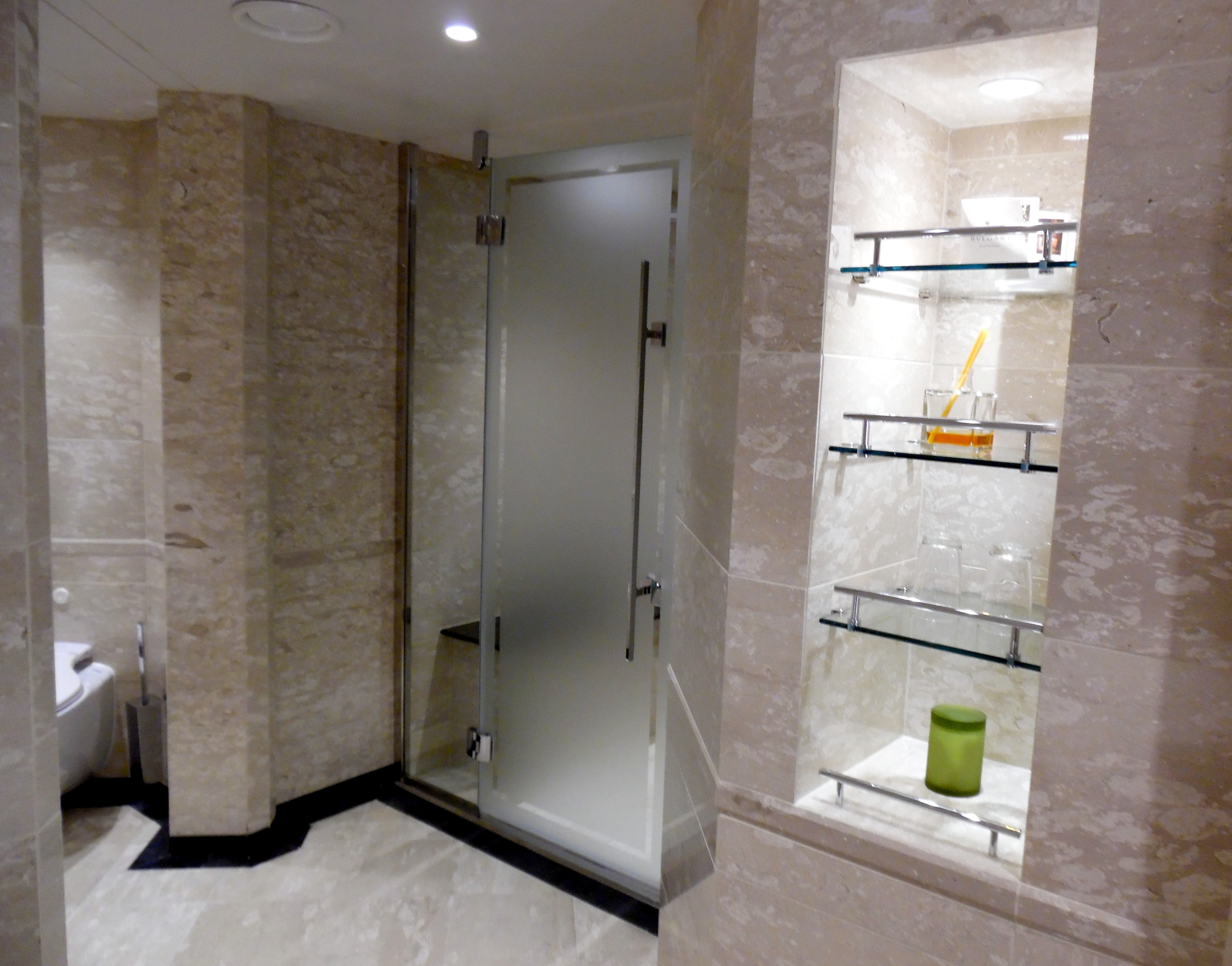 Shower area of master bathroom