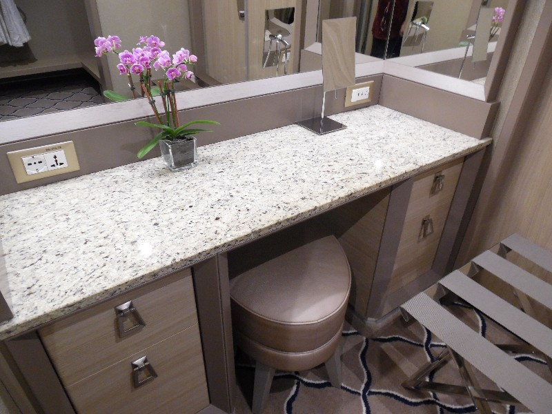 Vanity in master bedroom area on Silver Muse