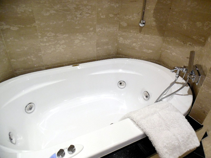 Master bathroom tub for Owners Suite