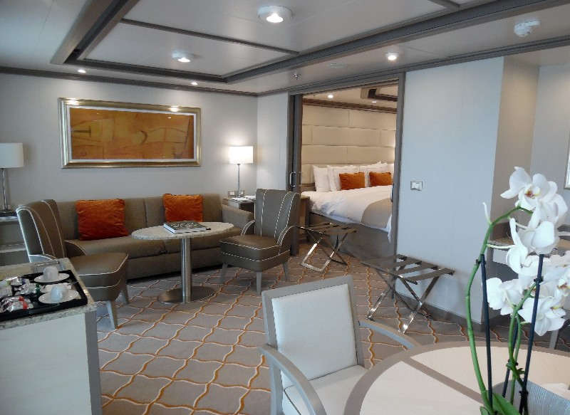 Living room area of the Silver Suite