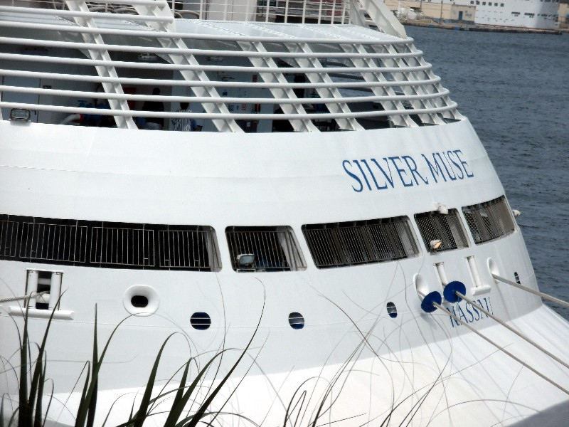 Aft section of Silver Muse