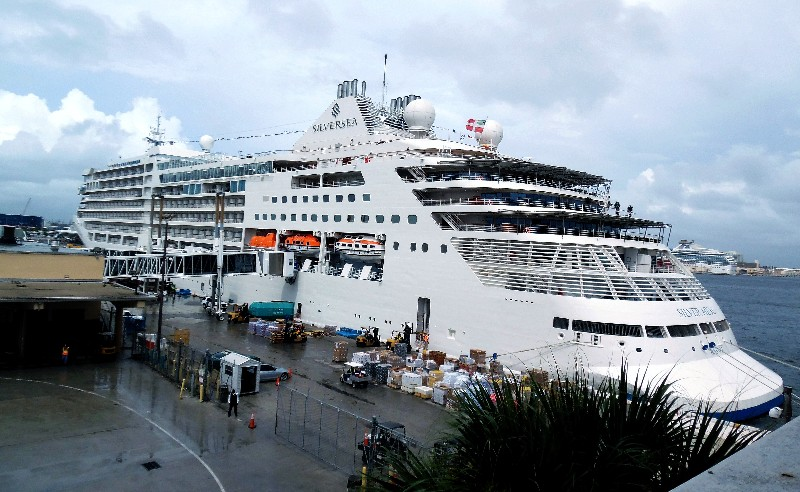 Silversea Cruises' new Silver Muse, docked at Port Everglades' Terminal 19