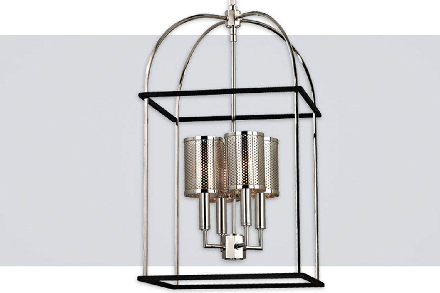 Vestal by Hudson Valley Lighting has perforated metal shades.