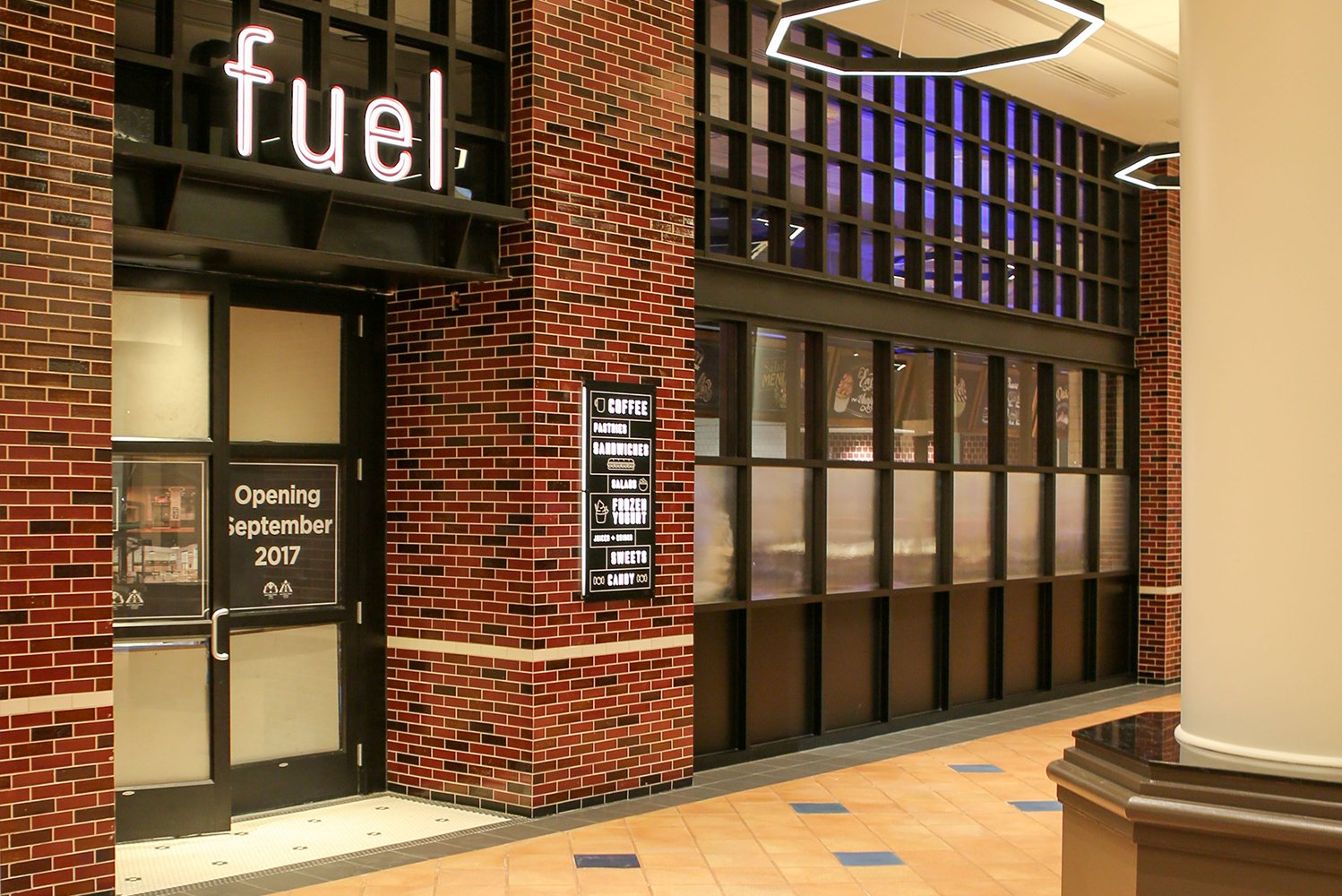 The resort built a completely new dining venue, fuel, located in the Dolphin lobby.