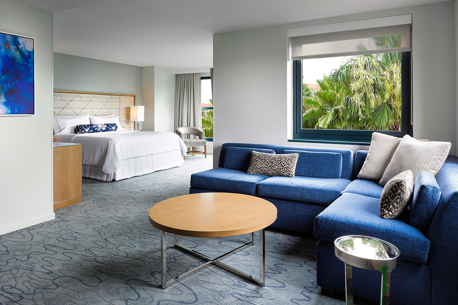All 2,267 guestrooms were completely transformed to reflect the resort's water-themed architecture.