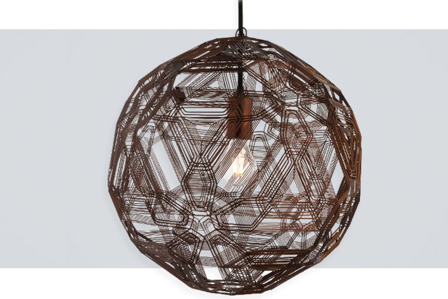 Zatellite by Uplight Group was handmade by Filipino artisans using galvanized iron, a malleable material.