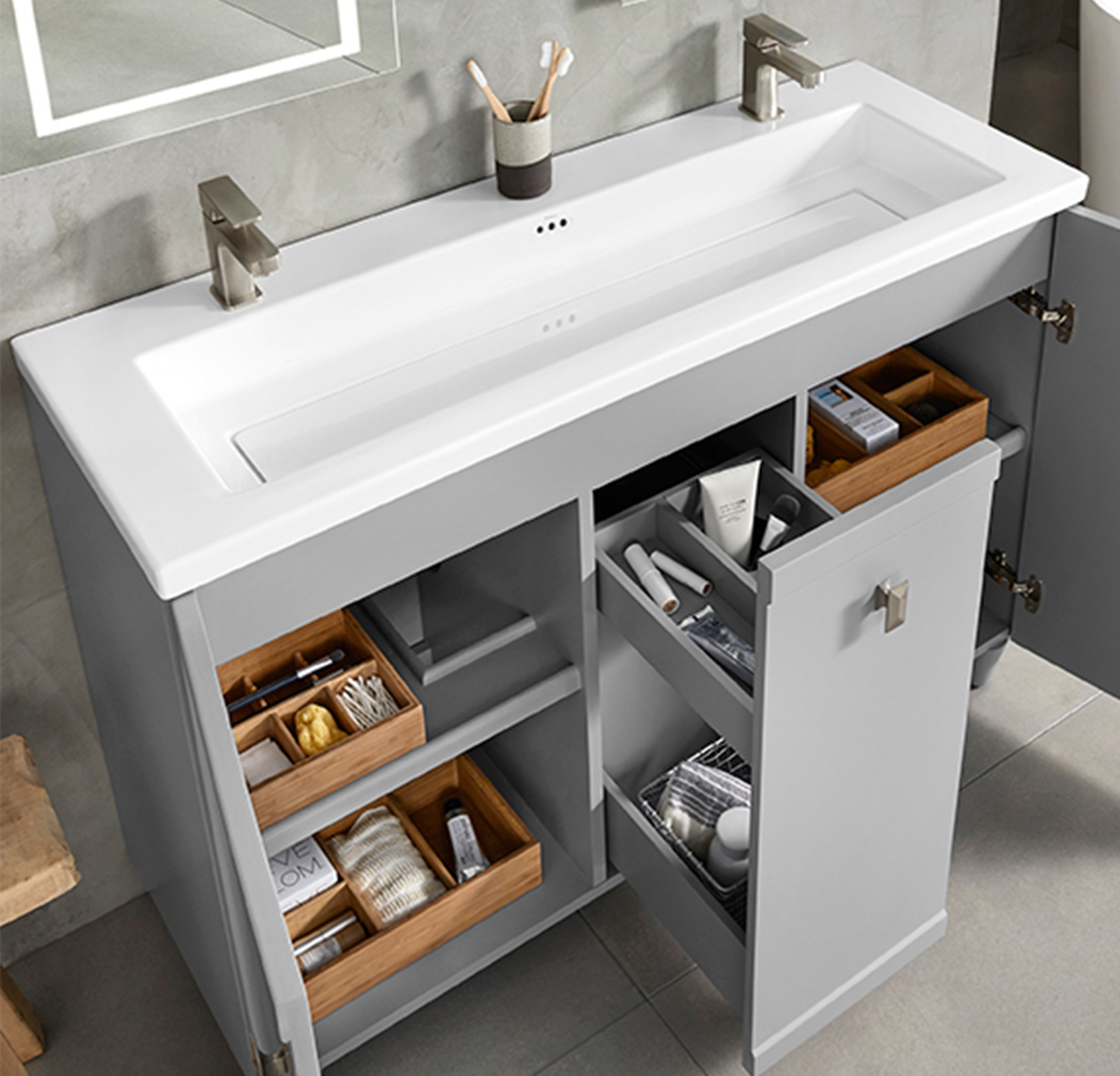 Ronbow launched Aravo Solutions, a customizable vanity.