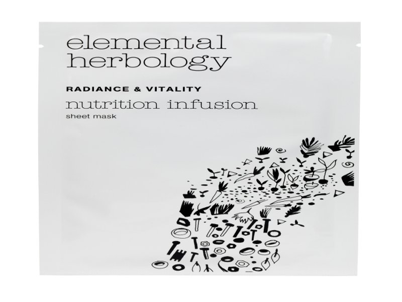 Radiance & Vitality Nutrition Infusion Sheet Mask by Elemental Herbology