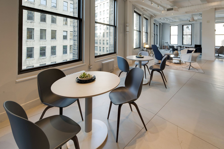 The showroom was designed by HBF's strategic design advisor Todd Bracher.