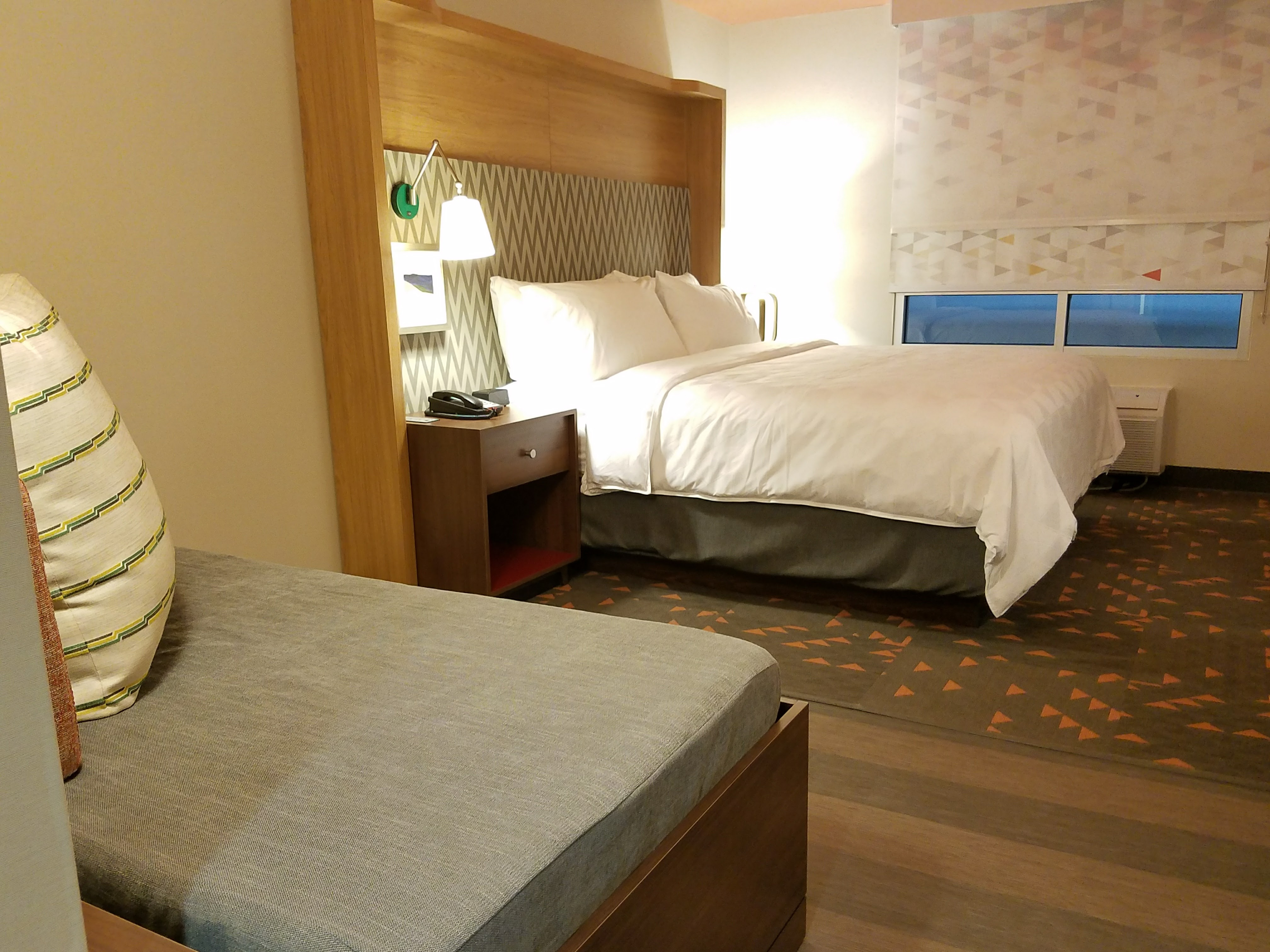 IHG's Holiday Inn H4 prototype has 5 points throughout the guestroom where guests can charge devices.