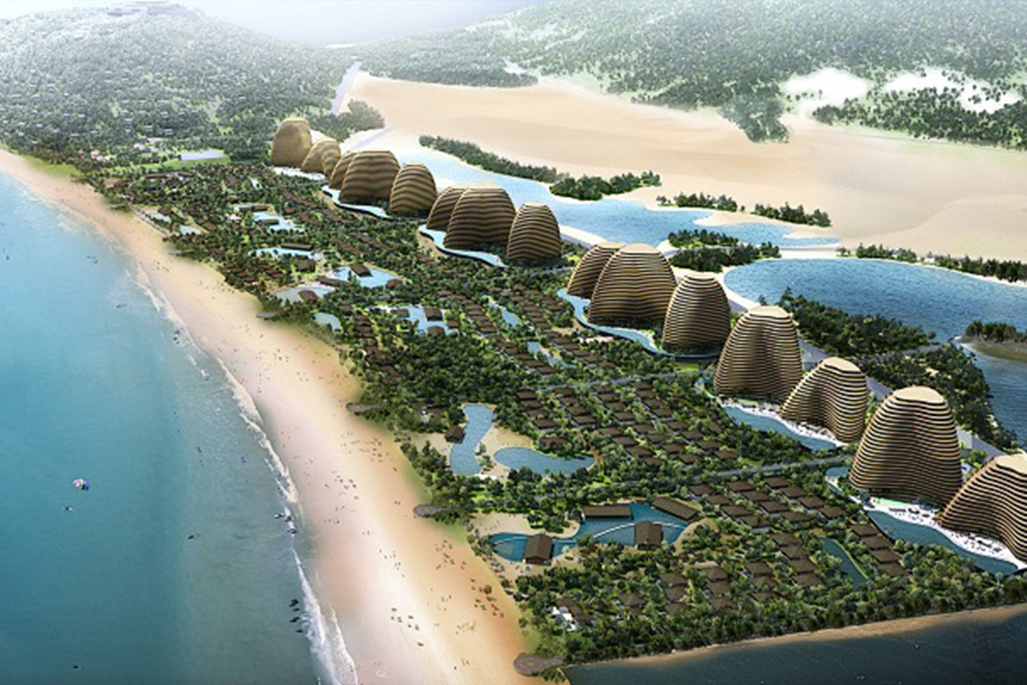 Chapman Taylor designed the masterplan for the 1,100,000 square meter (11,840,301 square foot) Mui Dinh eco-resort in Vietnam.