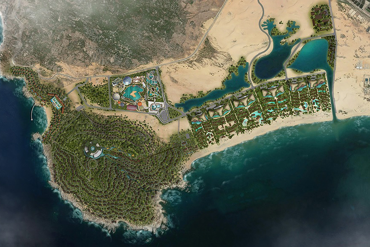 Set on the east coast of Vietnam, the design of the eco-resort reflects key elements from the surrounding environment – sand, sea, salt and sun.