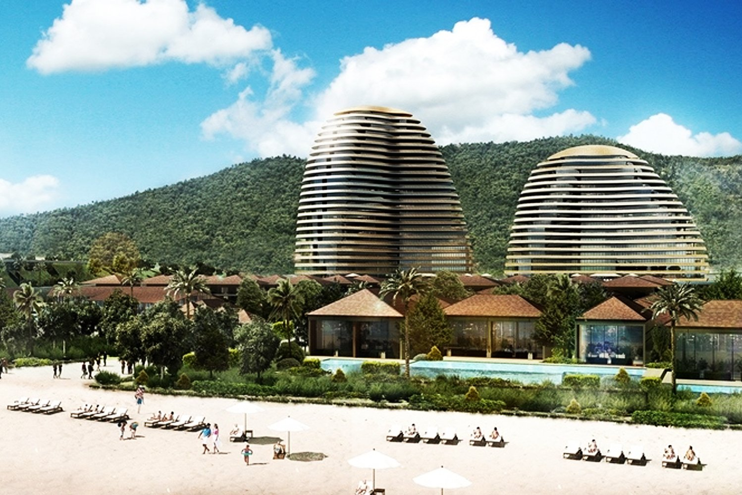 The development drew inspiration from the local history of Mui Dinh, particularly that of the Cham tribal culture.