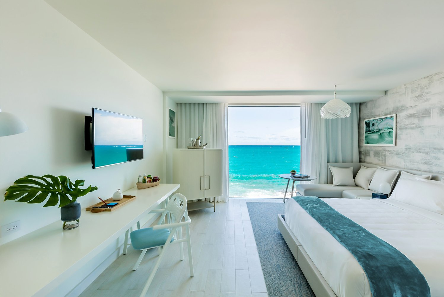 Upon opening, the property will have 96 rooms that will have floor-to-ceiling windows to offer views of the Atlantic Ocean or the neighboring Laguna del Condado.