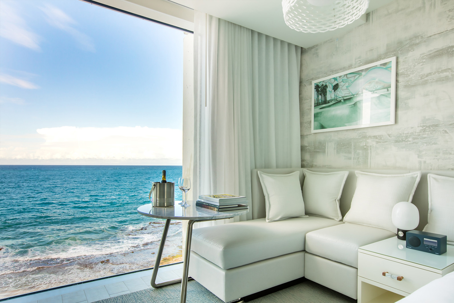The rooms will have floor-to-ceiling windows to offer views of the Atlantic Ocean or the neighboring Laguna del Condado.