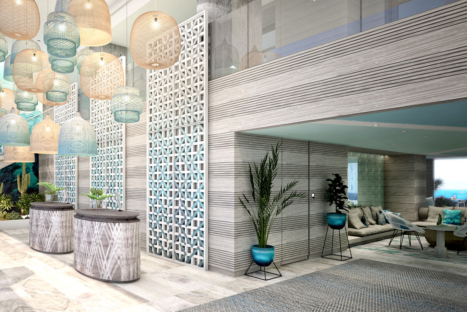 Designed by New York-based design and branding studio ICRAVE, the hotel will have a modern design.