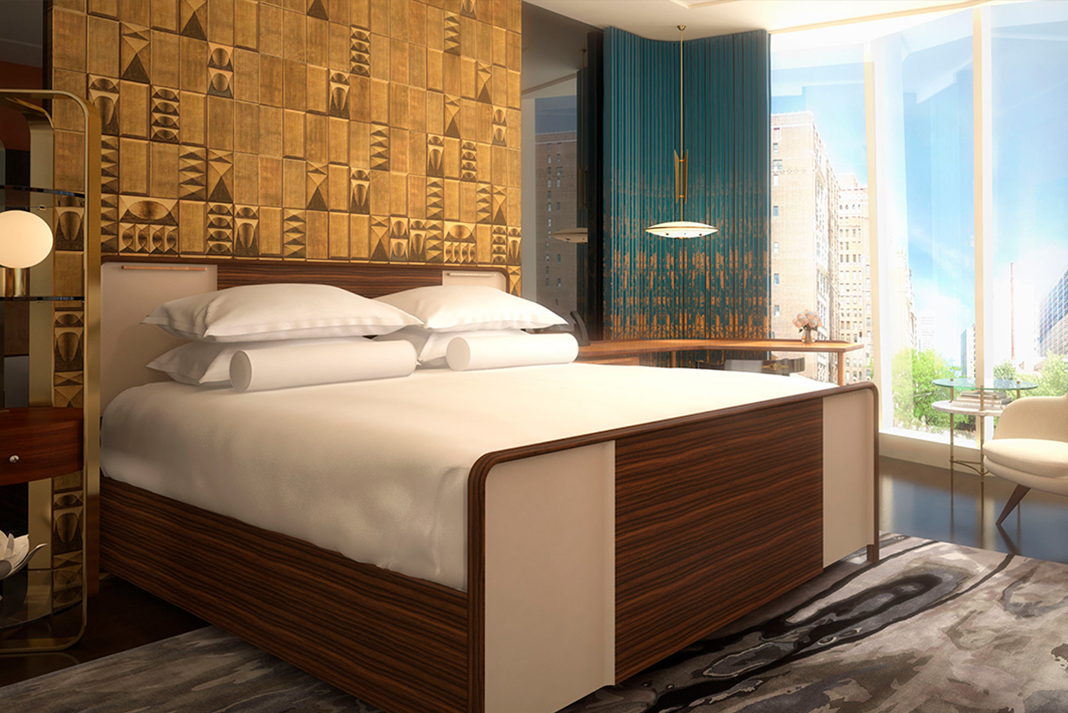 JDR Hospitality Solutions provided the casegoods, upholstery and lighting for the Viceroy Chicago.