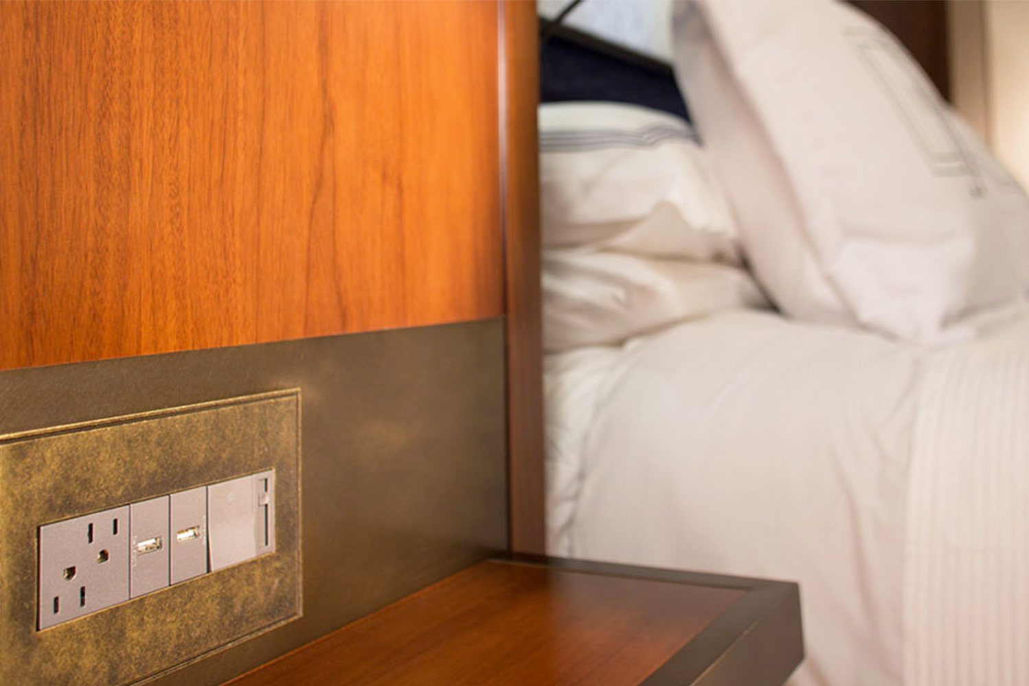 Legrand launched the Furniture power center by adorne, which incorporates electrical outlets and USB charging installed into the headboard or other in-room furniture units.
