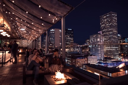 When the weather dips below 40 degrees, fire pits and enclosed areas keep guests outdoors.