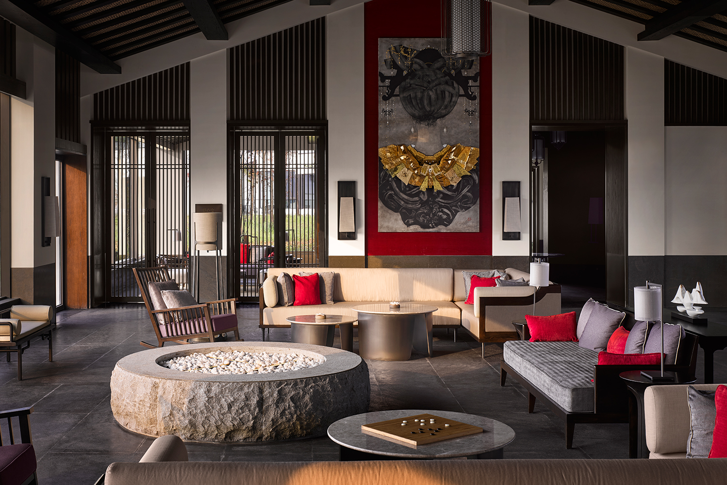 The villas were inspired by China's culture and craftsmanship.