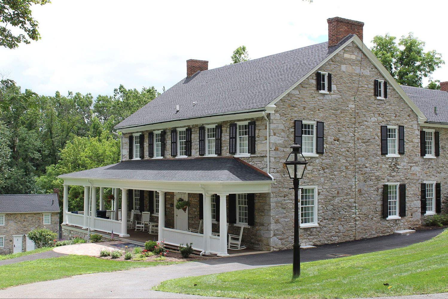 The redesign drew influences from the property's location along the Appalachian Trail and Yellow Breeches Creek.