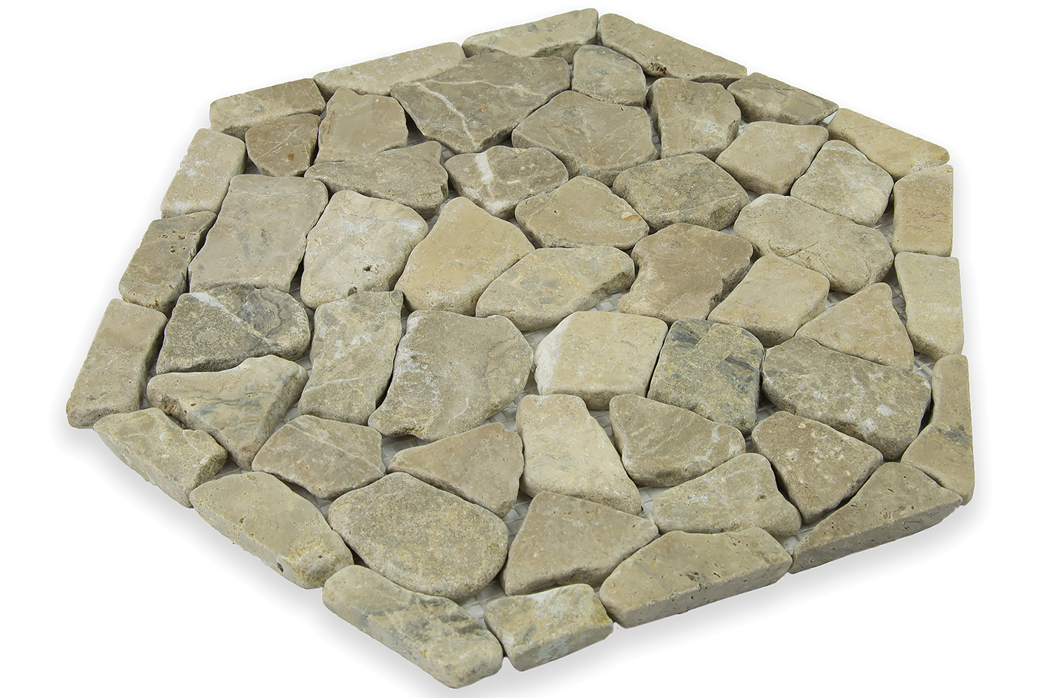 The pieces can be used for walls and floors, indoors and outdoors, and are also ideal for larger expanses and applications.
