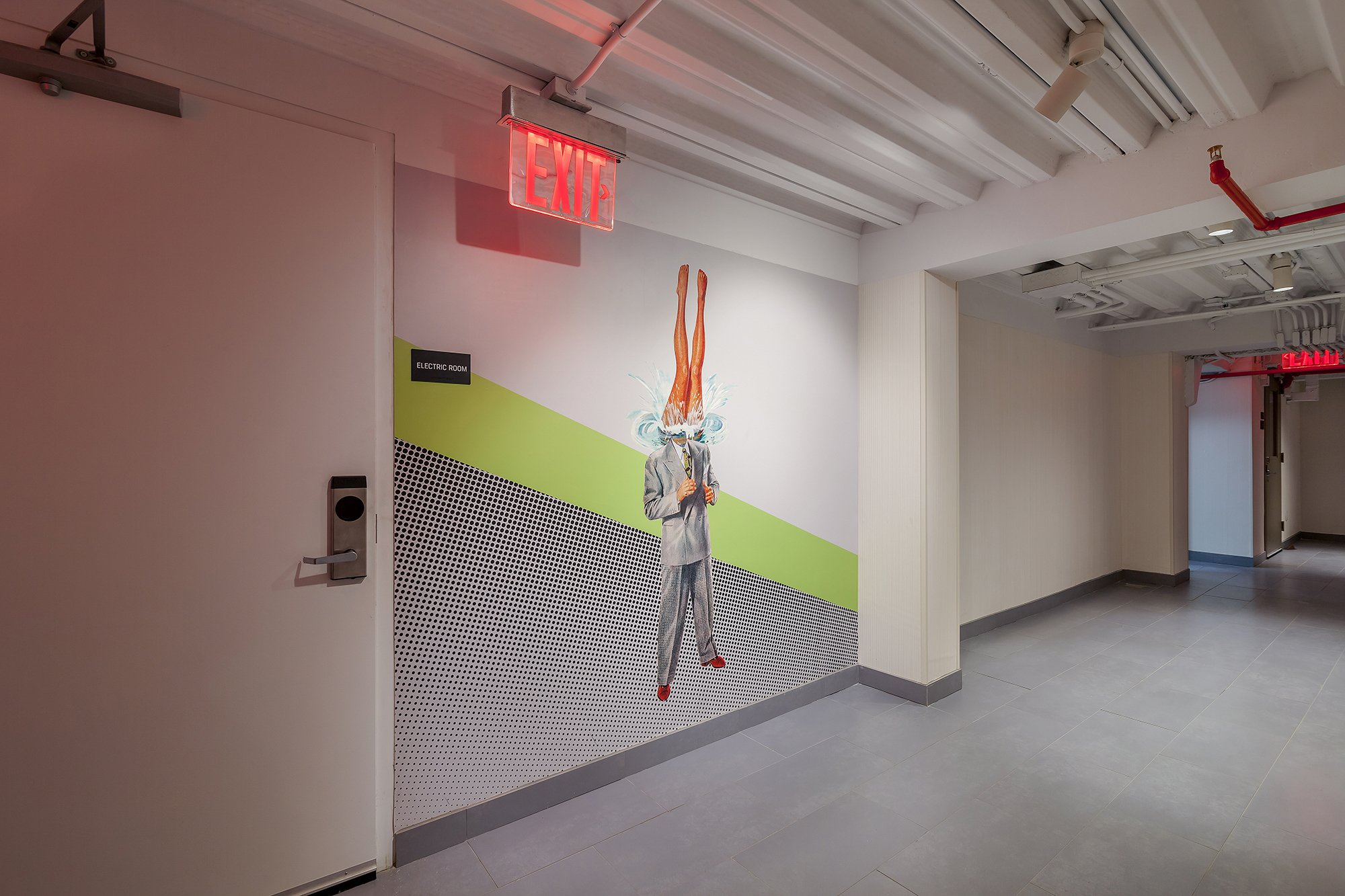"""These works fill the space with an energy and excitement while keeping the fitness room company."""