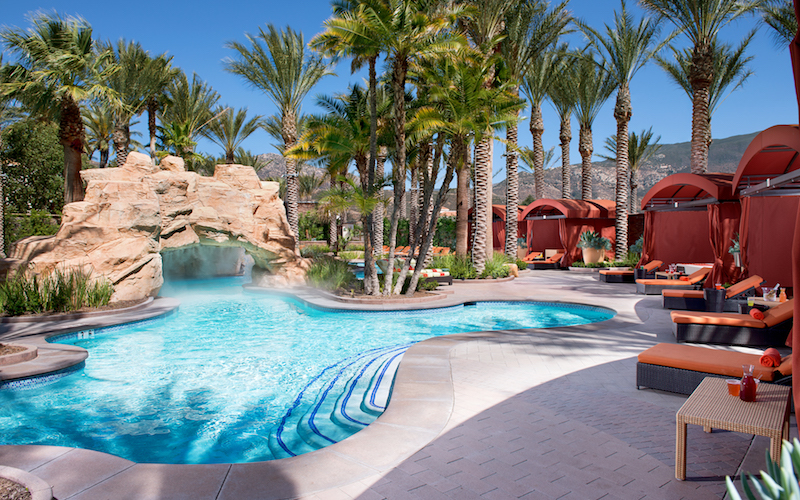 The Lazy River and Grotto at  Harrah's Resort Southern California