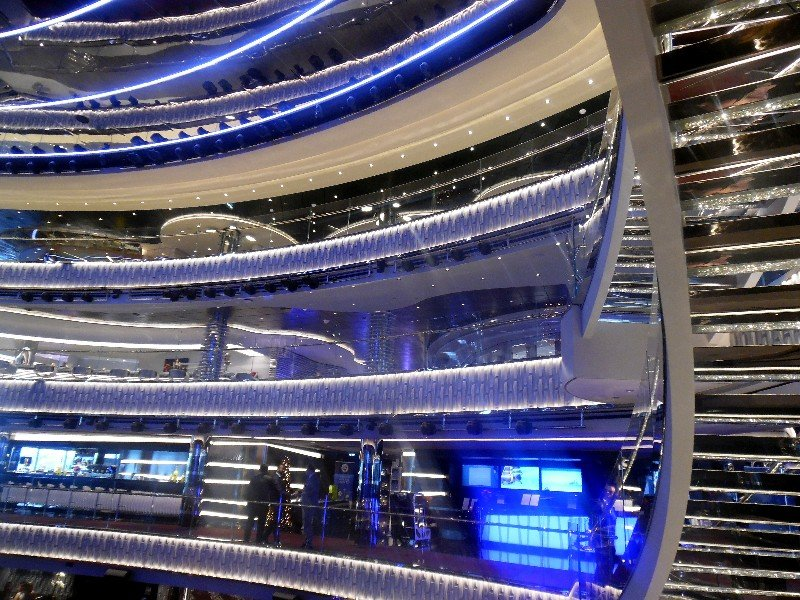 Atrium of MSC Seaside