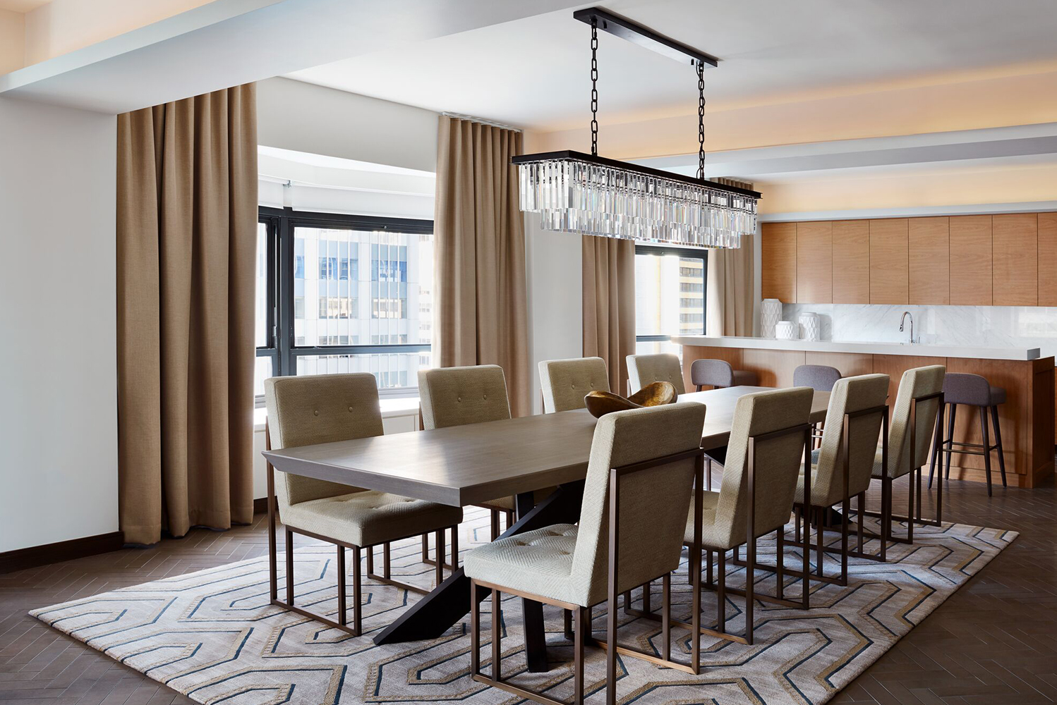 Each suite has views of Central Park as their backdrop.