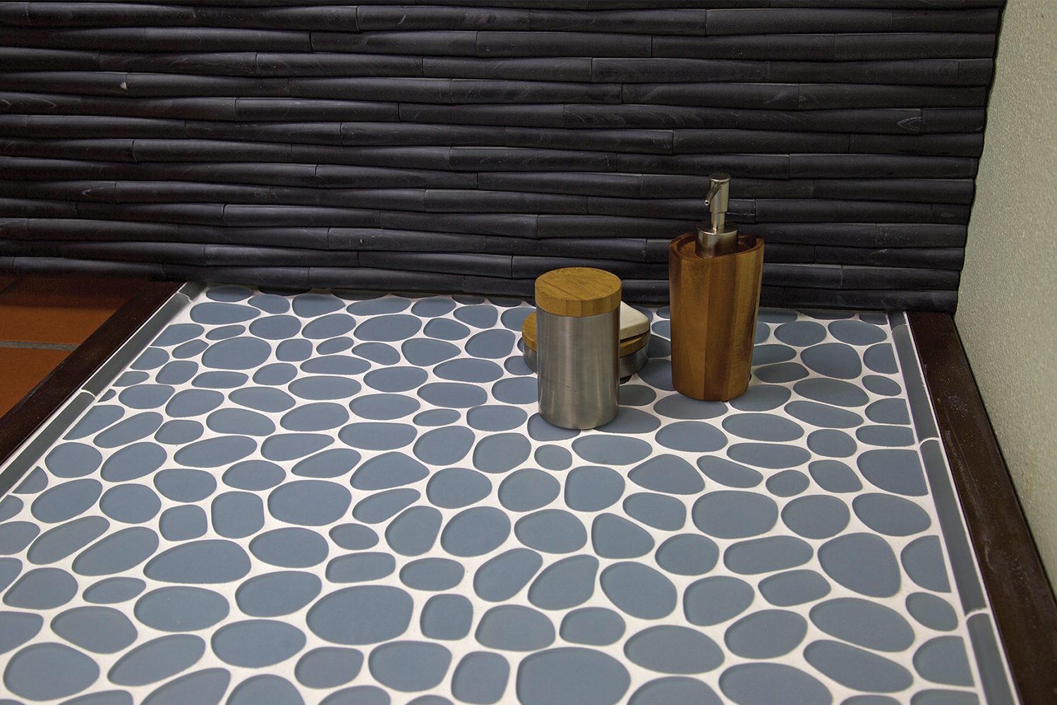 The tile series can be used for floors and walls.
