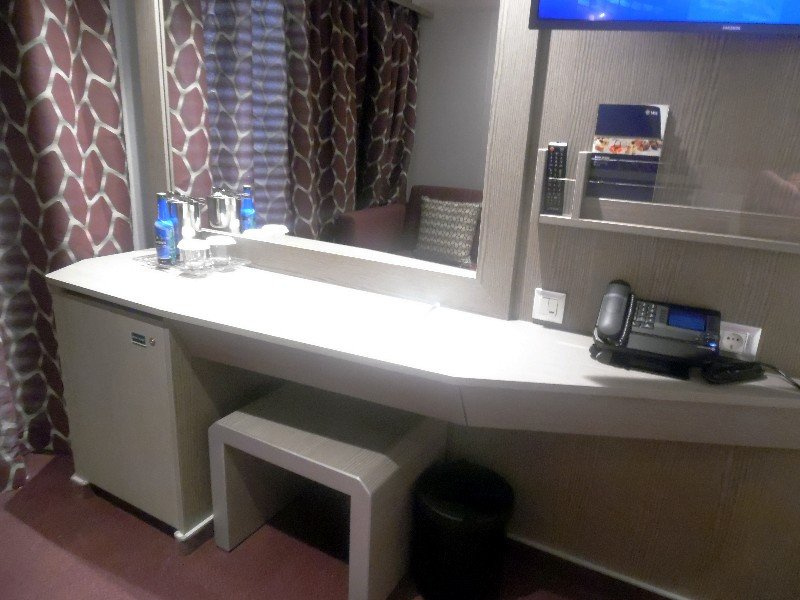 Vanity area of Balcony Stateroom