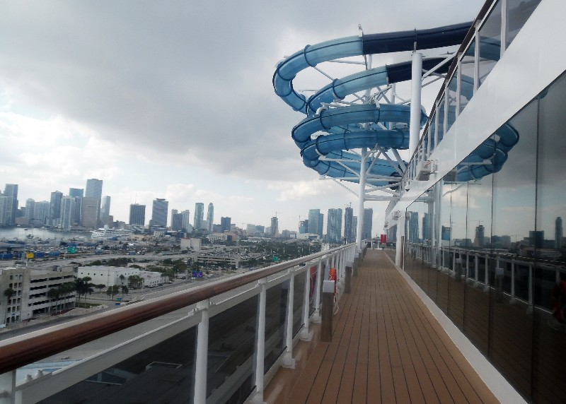 Waterslides on MSC Seaside