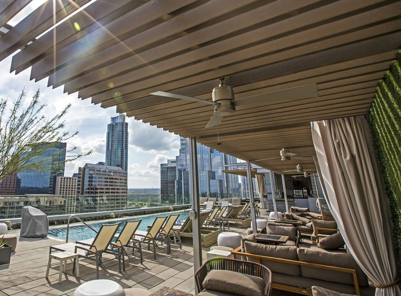 The Westin Austin Downtown's Azul Rooftop Bar & Lounge just emerged from a renovation.