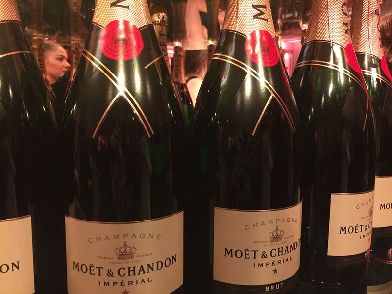 The champagne was flowing during the reception