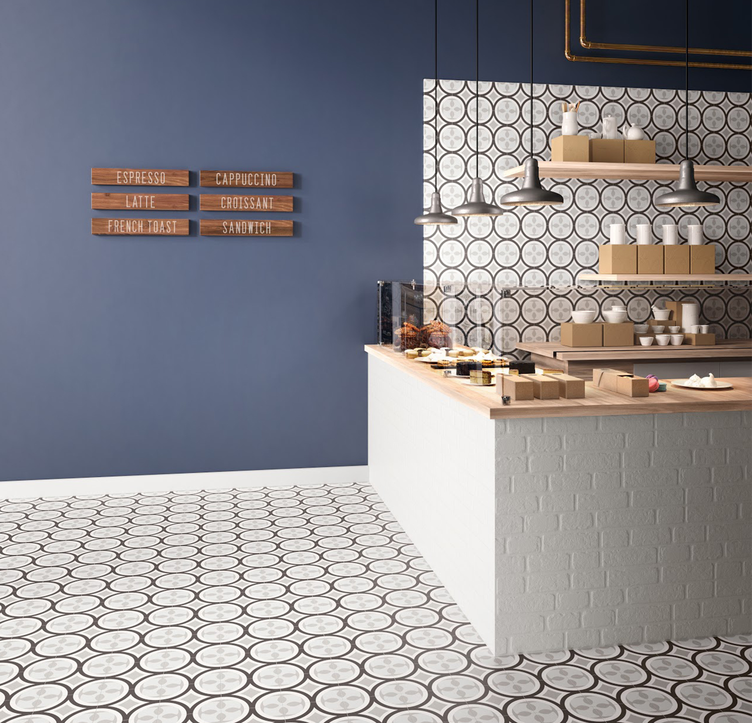 Available in three colorways, Aster is suitable for wall and floor applications.