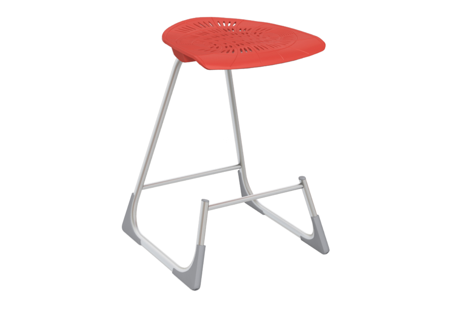 Coupled with flexible seats and foot rails, the Bodyfurn lab stool can move forward or backward with a shift in weight.