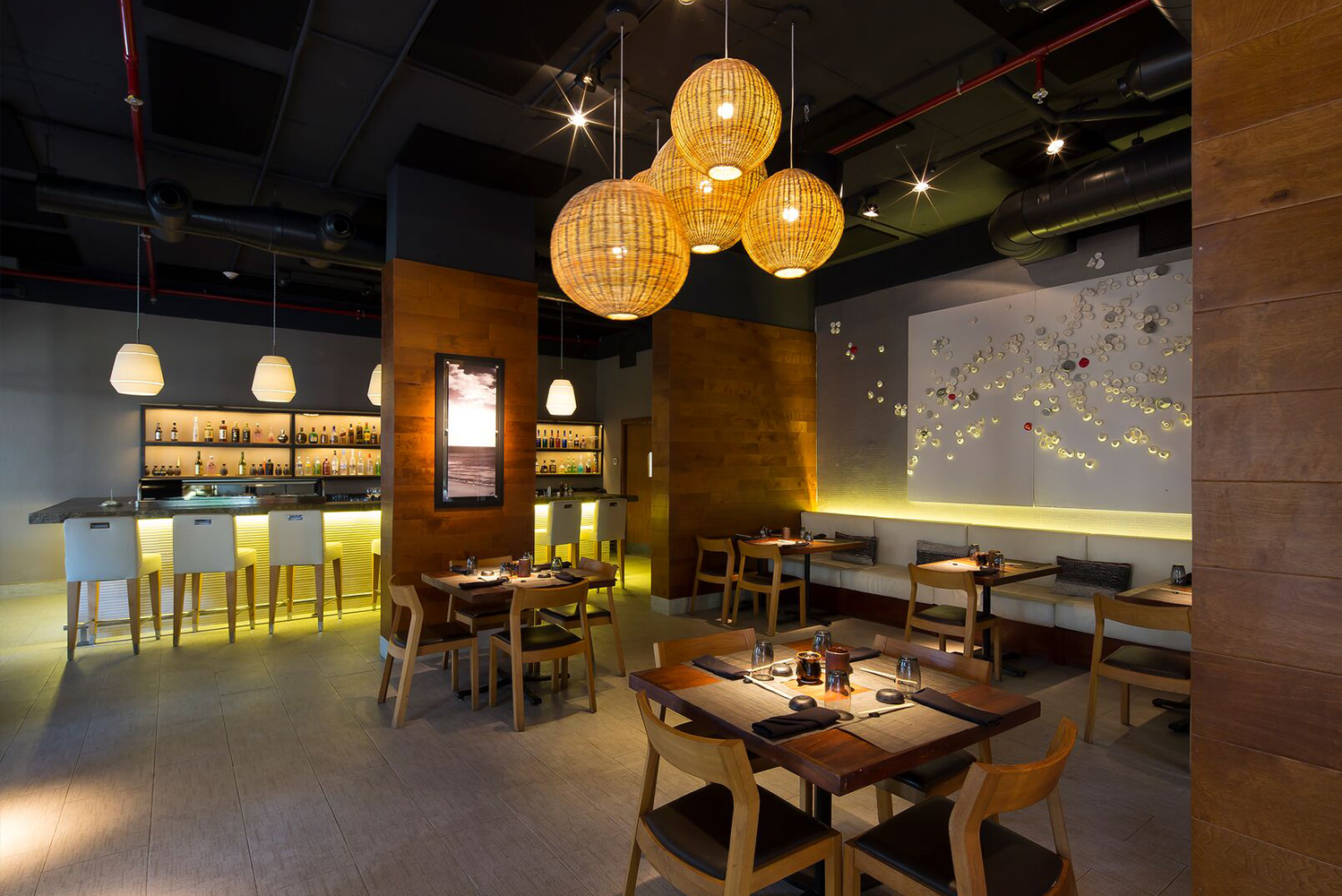 EDG Design was involved in the remodeling of the restaurants.