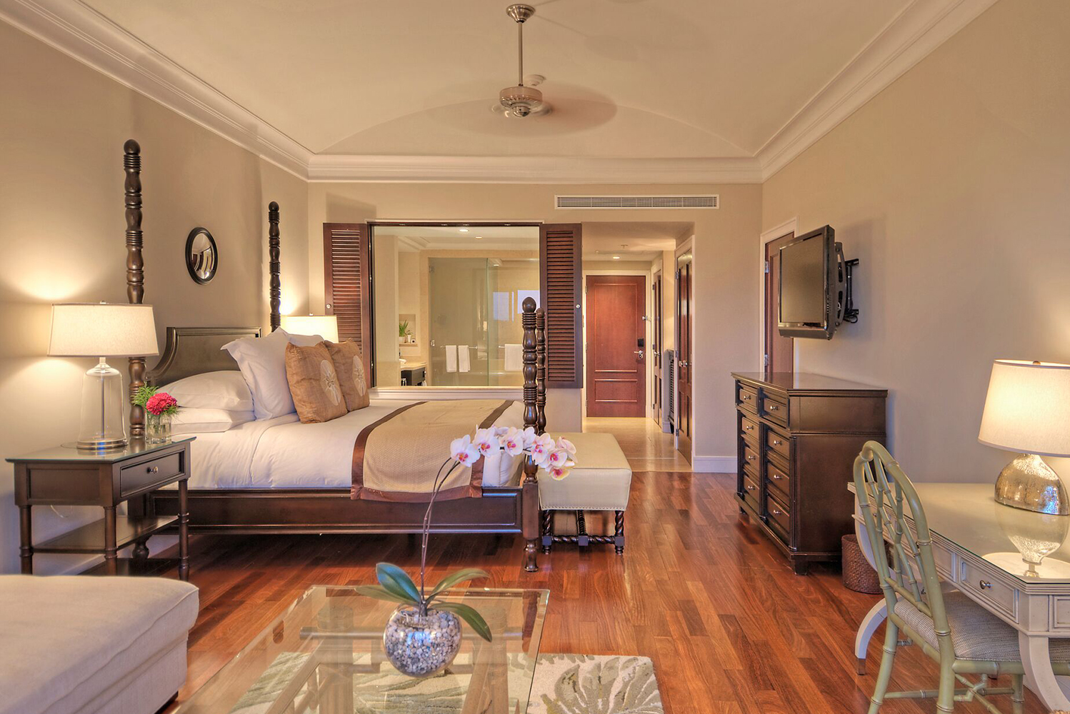 The property made enhancements to the 118 guestrooms, suites and villas.