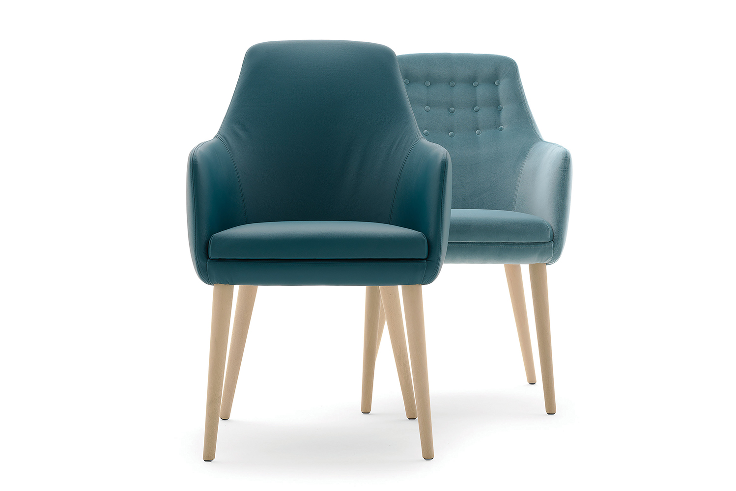The chair's aesthetic makes it ideal for lounge, hospitality and commercial spaces.