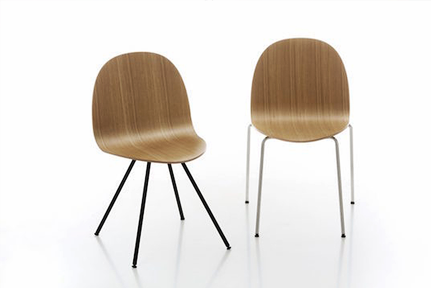 Italian design studio Nichetto Studio launched the Etabeta chair, which has a narrow seat and a large backrest to provide both comfort and form to its users.