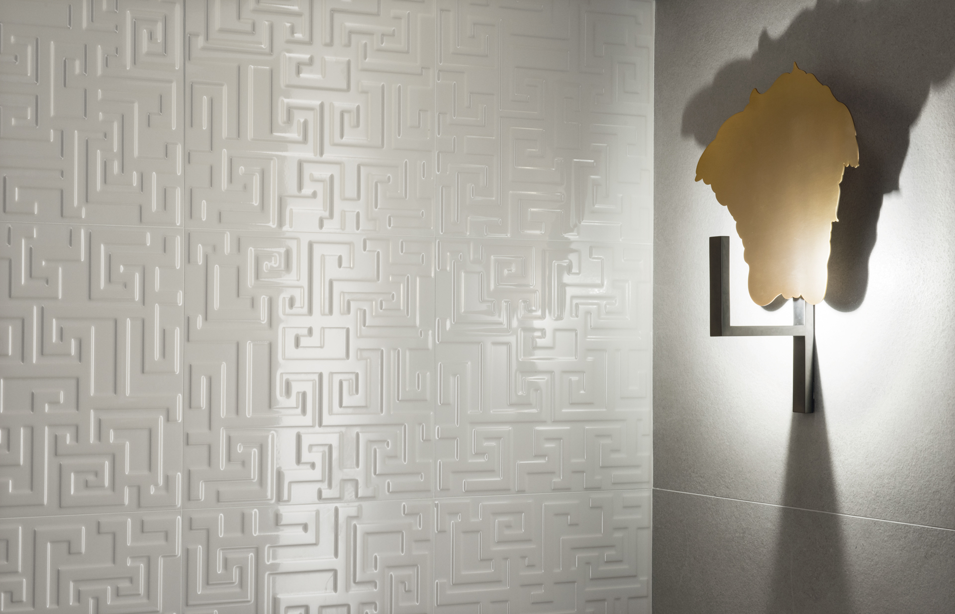 "The Greek collection by Gardenia Orchidea is an example of how tiles create a ""global"" look."